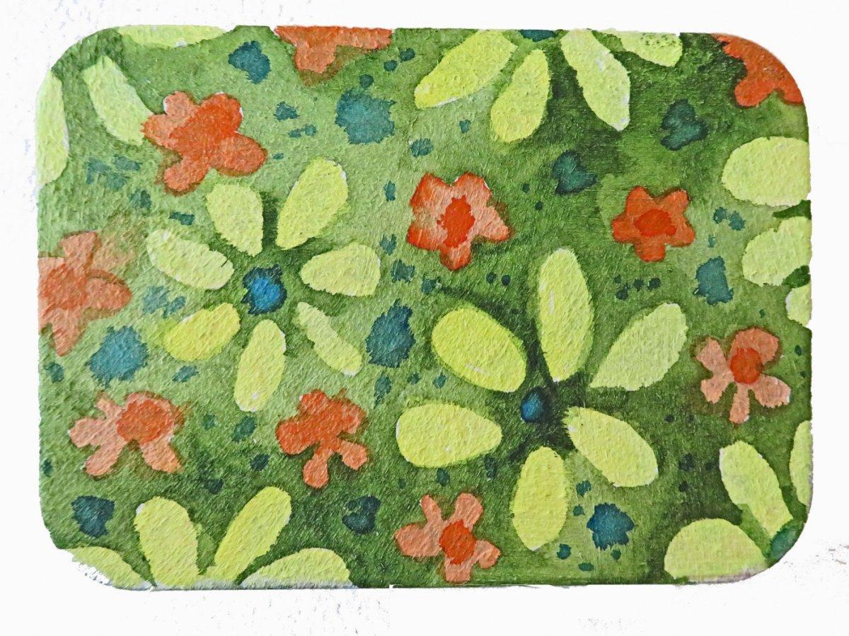QoR Cold Pressed Ground Painting Example - Sandra Strait - Doodlewash