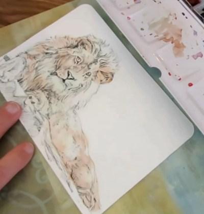 Drop In Terra Cotta Paint A Lion