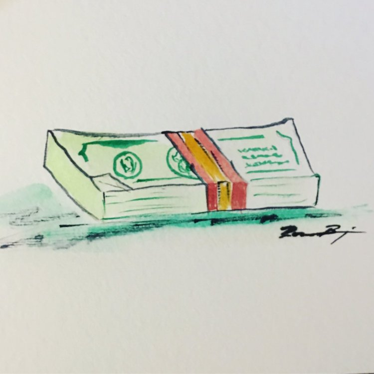 """Day 13: Fast and Loose – much like this watercolor is """"fast and loose""""…people also s"""