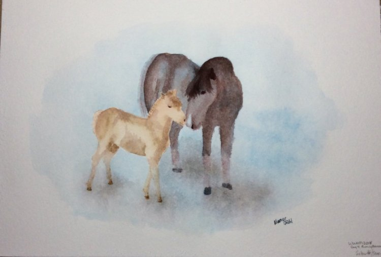 "#WorldWatercolorMonth day 4 ""family moments"" Russell and Frazier. Schut Noblesse paper a"