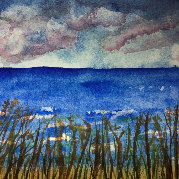 Day 27 of World Watercolor Month … Prompt – Clouds In The Sky. #worldwatercolormonth #worldw