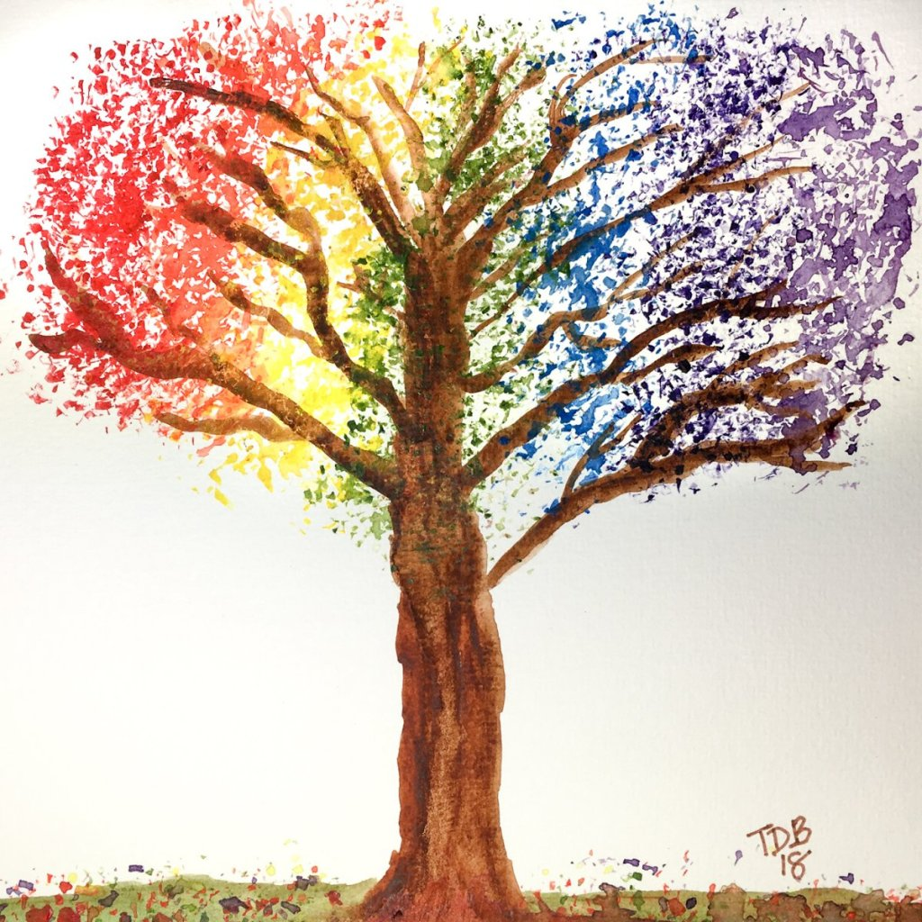 Day 31 ends World Watercolor Month … Prompt – Celebration Of Color. Whew… that was a busy