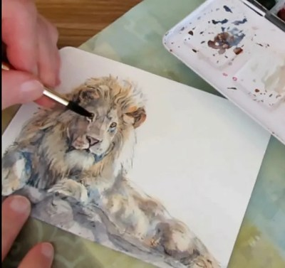 How To Paint A Lion On A Watercolor Postcard Doodlewash Tutorial Lion leg tattoo lion tattoo sleeves lion tattoo design sleeve tattoos flower tattoo foot flower tattoo designs flower tattoos tattoo outline drawing outline roaring lion by houseofchabrier on deviantart. how to paint a lion on a watercolor