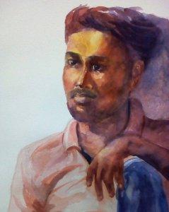 Portrait – Watercolor 21-7-18 Portrait – Watercolor-21-7-18