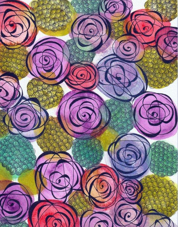 Watercolor Zentangle - Tangle Strings - Alice Hendon - Doodlewash