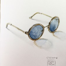 Glasses Watercolor Painting by Kate Plum - Doodlewash