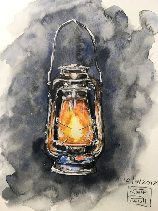 Lantern Watercolor Painting by Kate Plum - Doodlewash