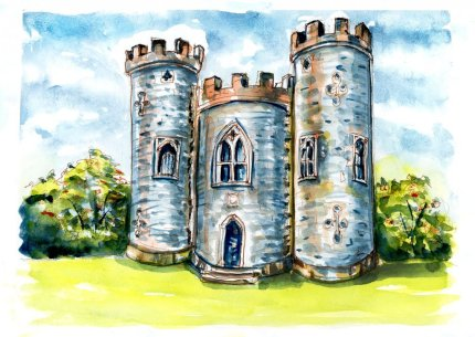 Day 17 - Backyard Castles Folly Blaise Castle - Doodlewash