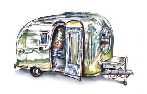 Day 5 - A Dream About Camping Airstream Trailer - Doodlewash