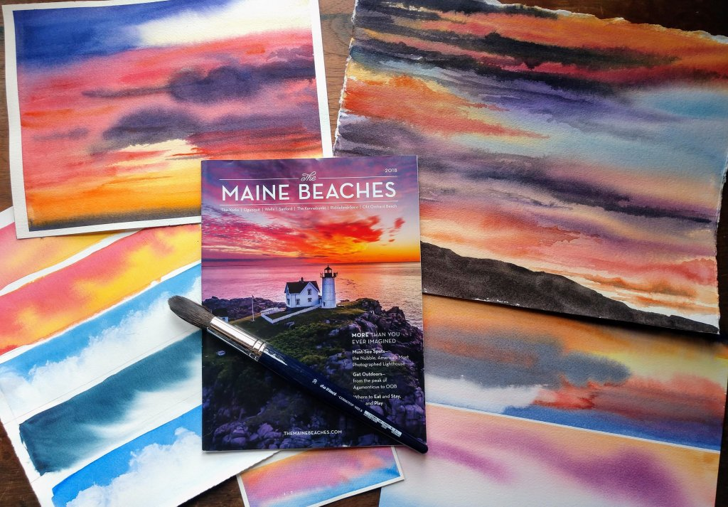 Atmospheric Landscapes With Birgit O'Connor class example of vivid sunsets