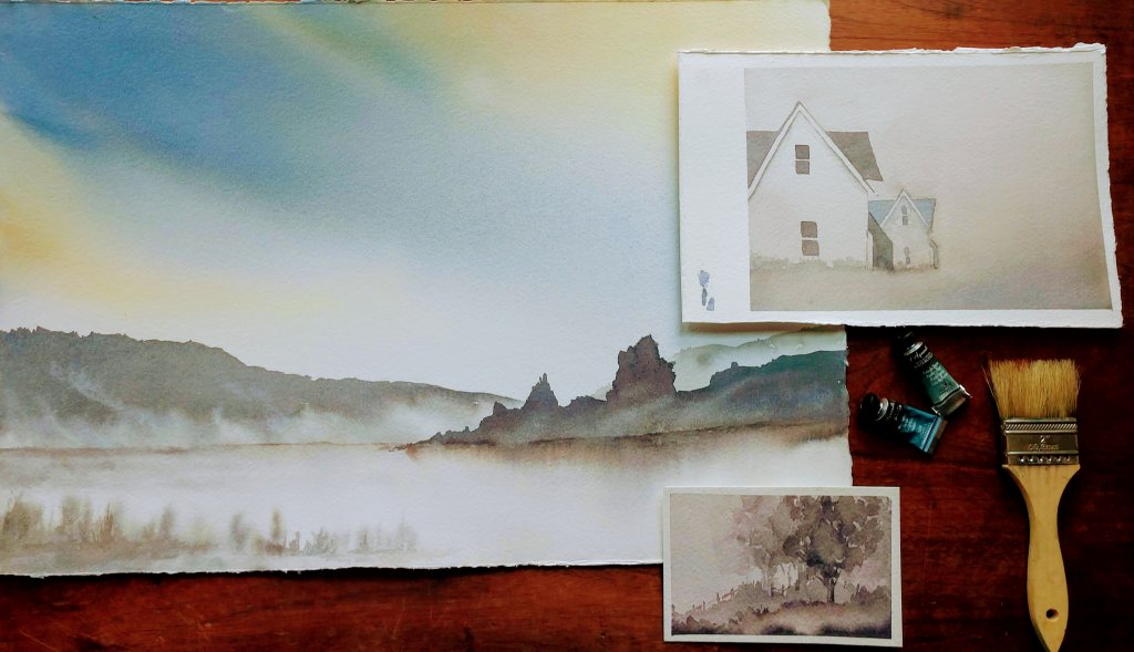 Atmospheric Landscapes With Birgit O'Connor class example fog and mist