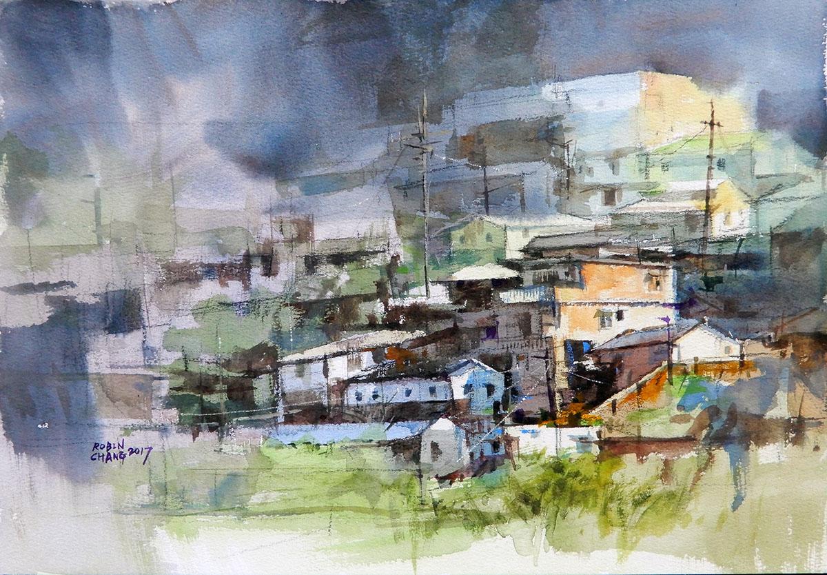Watercolor Painting by Chang Hong Bin - Doodlewash