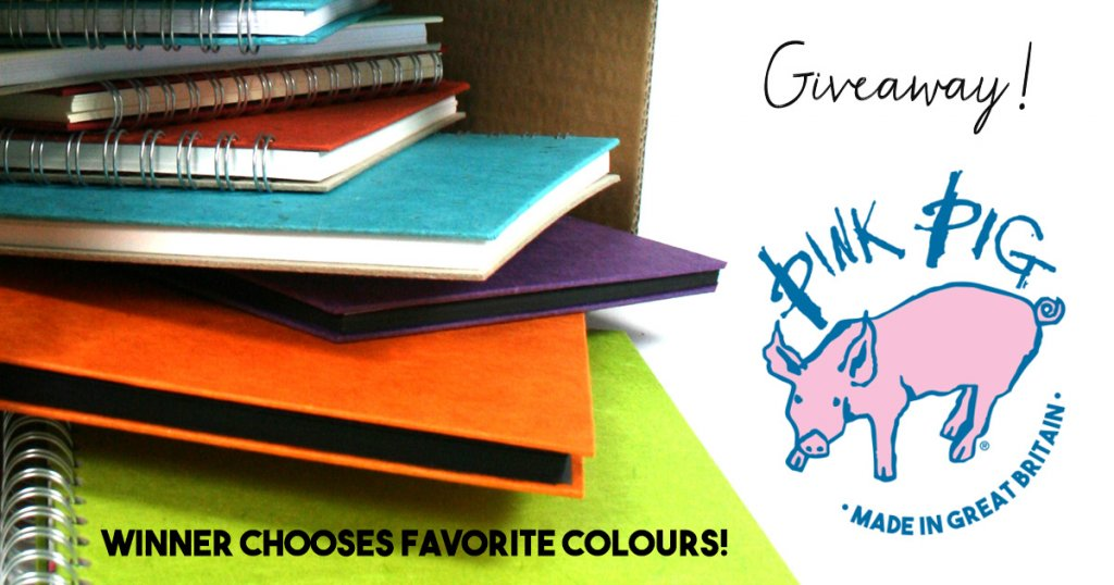 Pink Pig Watercolour Sketchbooks Giveaway Image