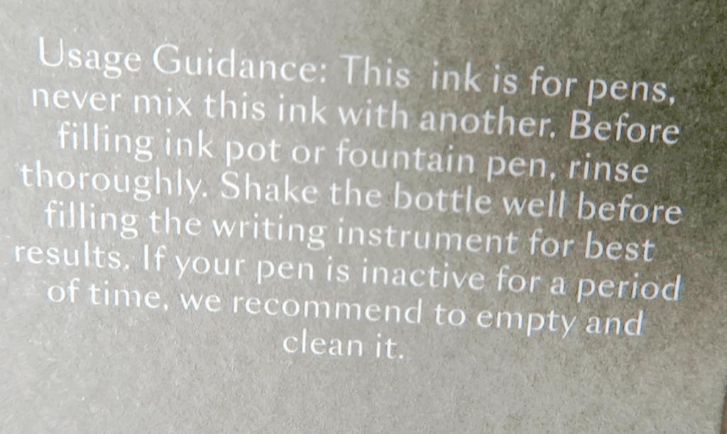 J. Herbin Ink Usage Guidance