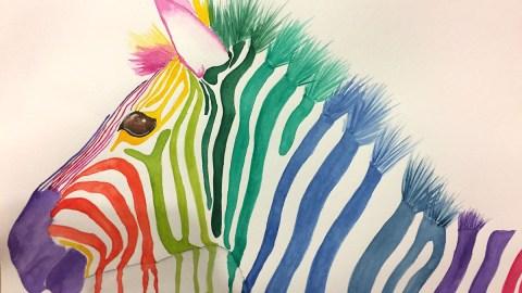 Zebra Watercolor by Sophia Czarkowski - Doodlewash