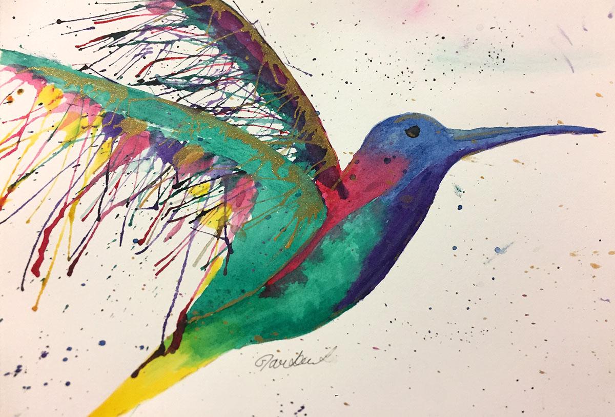 Hummingbird Watercolor by Sophia Czarkowski - Doodlewash