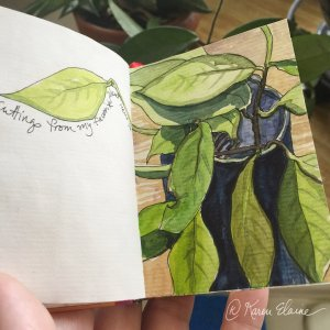 I like to keep small sketchbooks handy so I can paint the moment. It is part of my mindful art pract