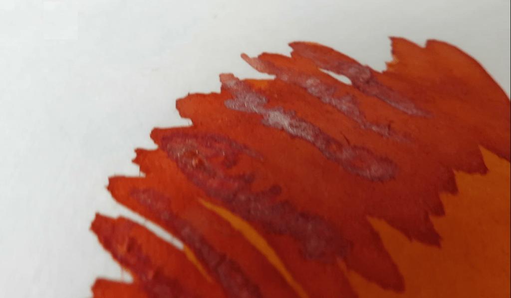 Cornaline d'Egypte J. Herbin Ink Sample Page