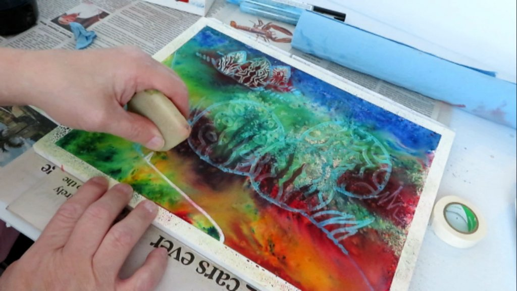 Removing Masking Fluid in Watercolor Painting - Doodlewash