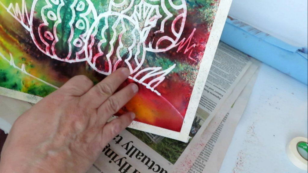 Removing Masking Fluid in Watercolor Painting - Final Steps - Doodlewash