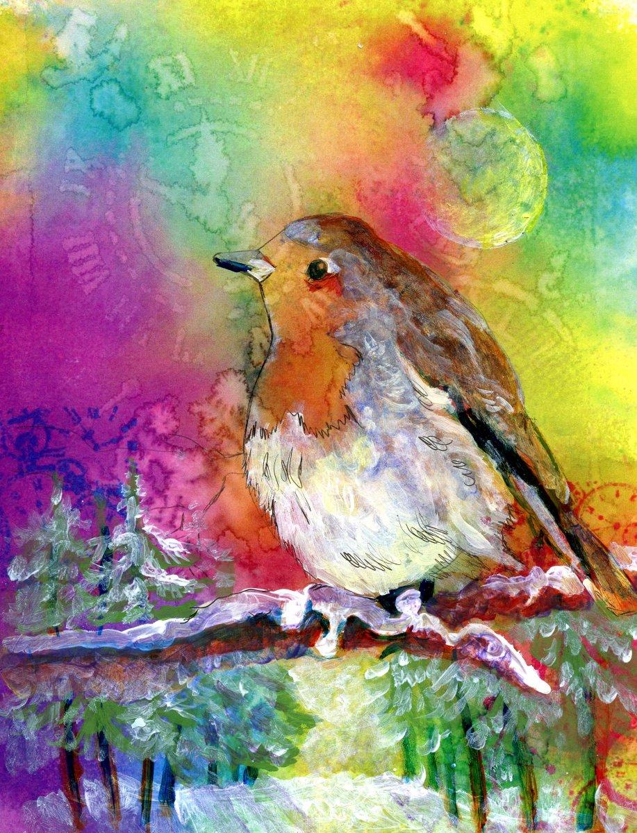 Robin Painting by Sandra Strait - Doodlewash