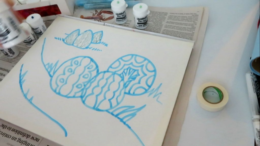 Using Masking Fluid on Watercolor Paper - Let Dry - Doodlewash
