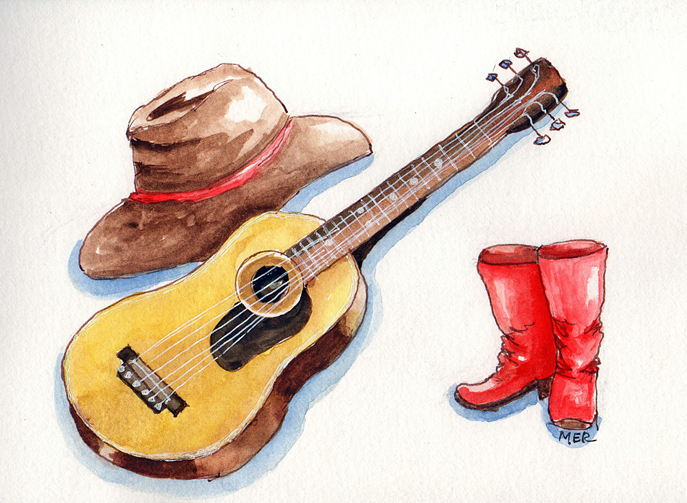 9/17/18 Country Music Day The red boots are a little tribute to my sister who loved music of any kin