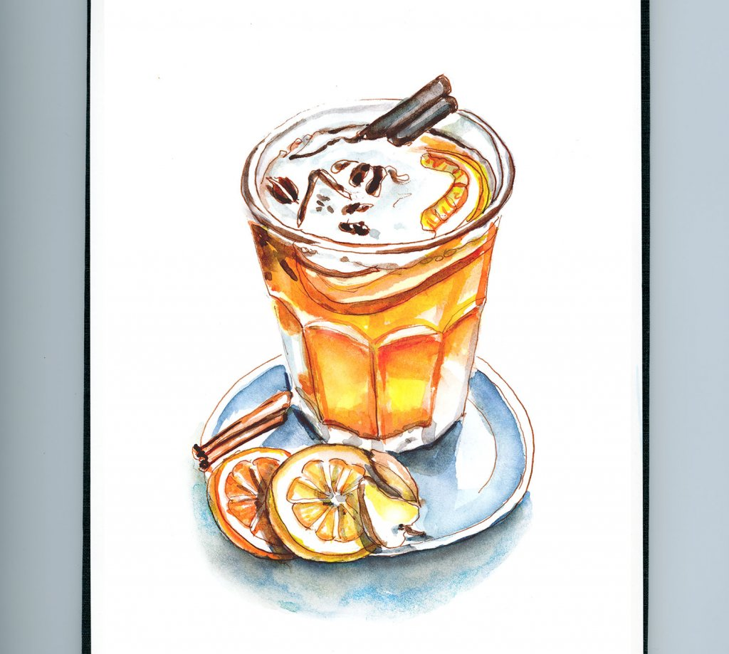 Day 30 - Hot Mulled Cider Day Watercolor_IG