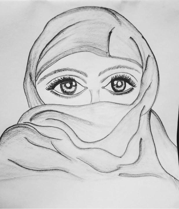 Drawing by Sonia Dutta - Eyes Woman - Doodlewash