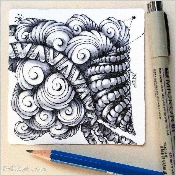 Zentangle Art by Eni Oken - Doodlewash
