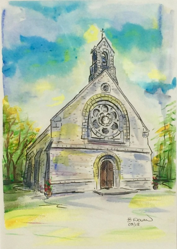 Watercolor by Bernadette Tully Dolan - Doodlewash