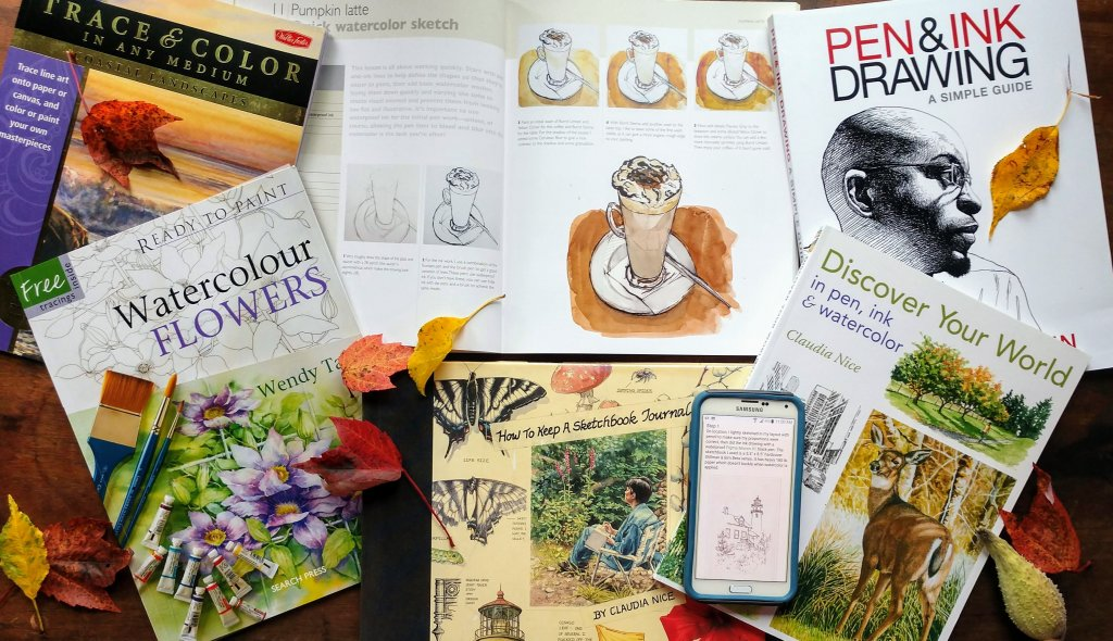 Books on drawing with pen and ink and watercolor - Doodlewash
