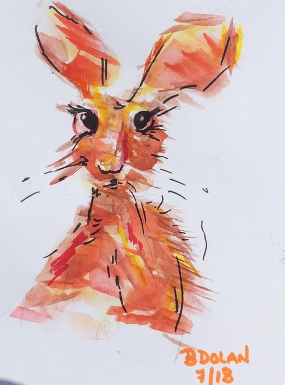 Watercolor by Bernadette Tully Dolan - Doodlewash