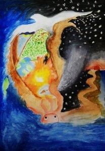 #doodlewashSeptember2018 Artwork for Dream Day Watercolor on paper P_20180918_224534_1