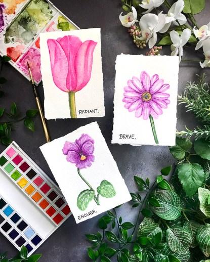 Flower Series Watercolor by Rubeena Ianigro - Doodlewash