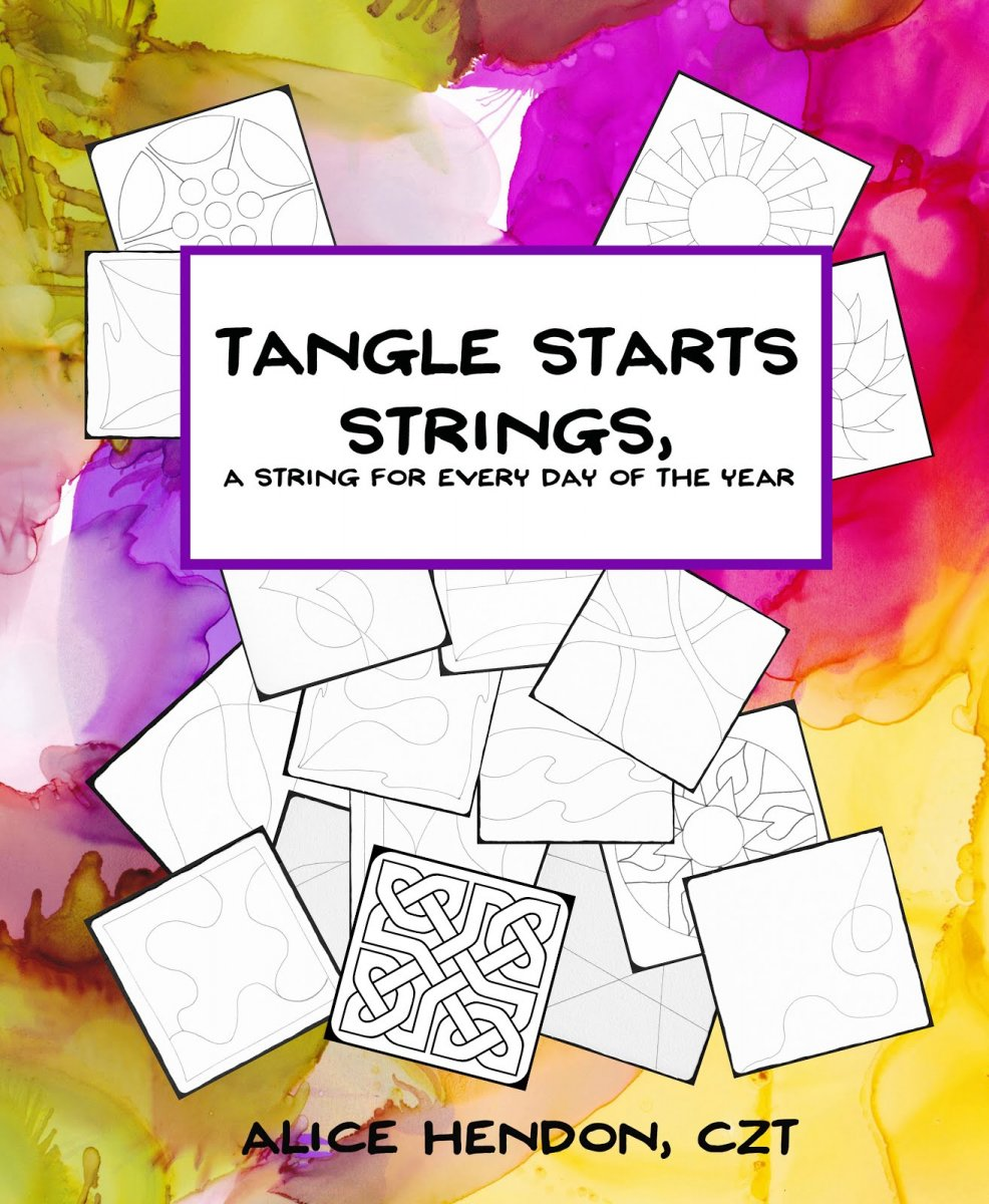 Tangle Starts Strings Book Cover by Alice Hendon - Doodlewash
