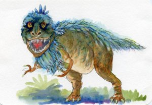 Postcards for the Lunch Bag – Did you know that T-Rex had 50-60 teeth the size of bananas and