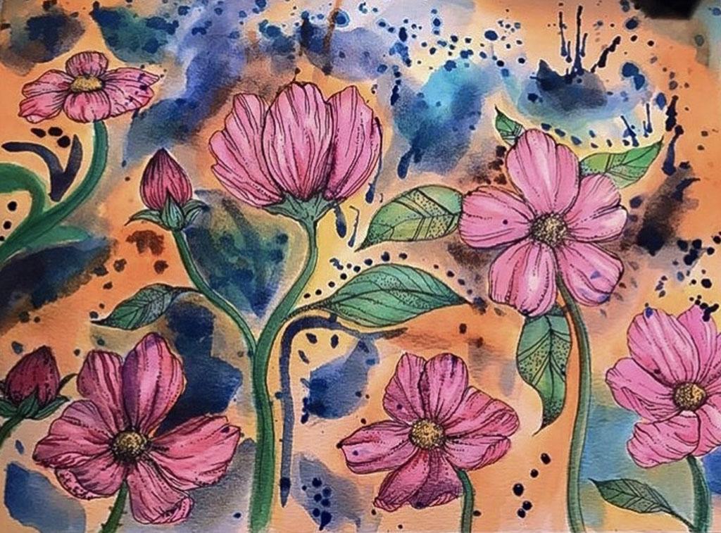 Watercolor Painting by Maria Navarro - Doodlewash