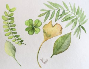 More practice with leaves and different techniques, getting the values right makes such a huge diffe