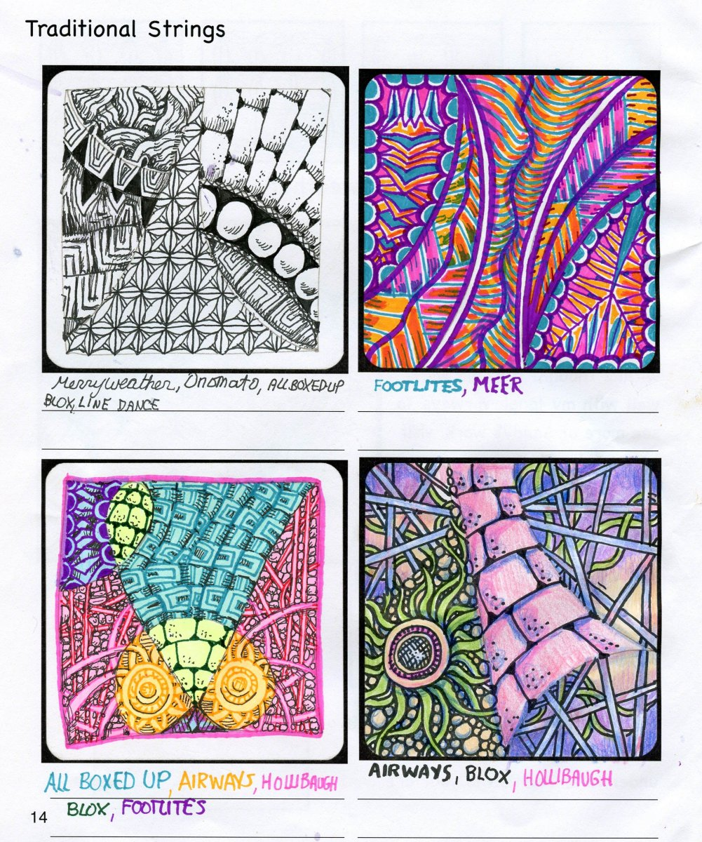 Zentangle Strings Traditional Tangle - Doodlewash