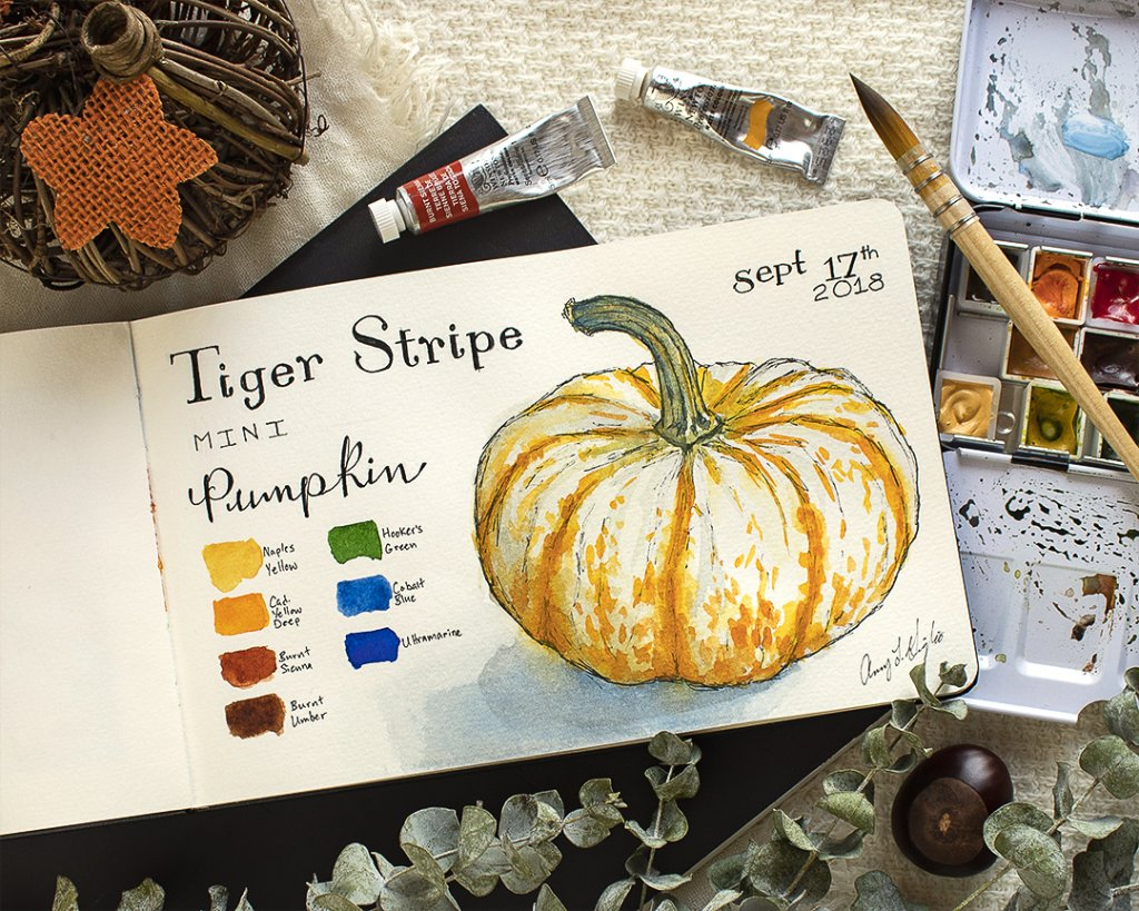 Happy Pumpkin Season! tiger stripe pumpkin_092018_13_ig