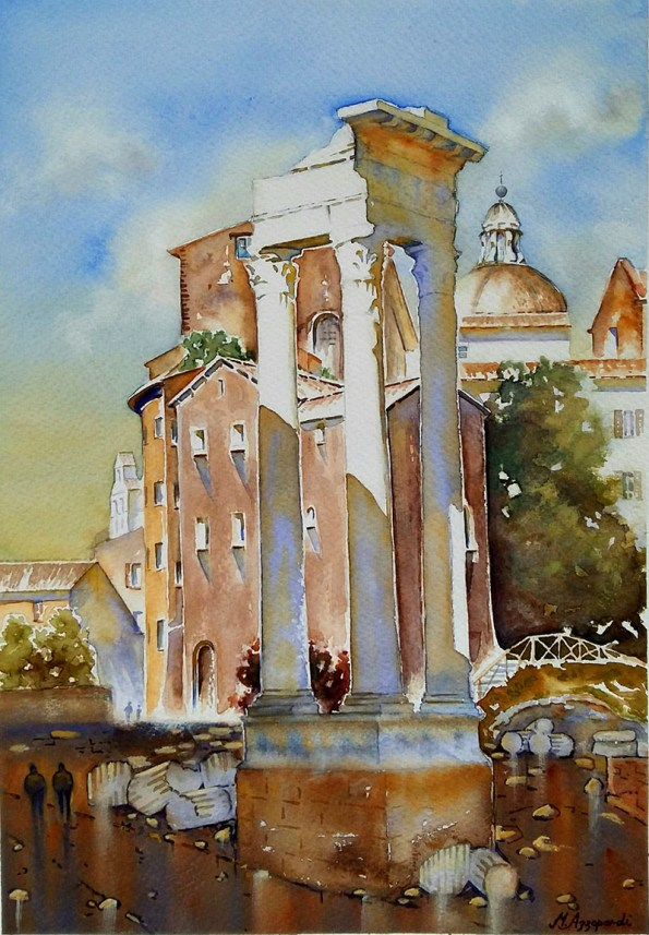 Watercolor Painting by Martin Azzopardi - Doodlewash