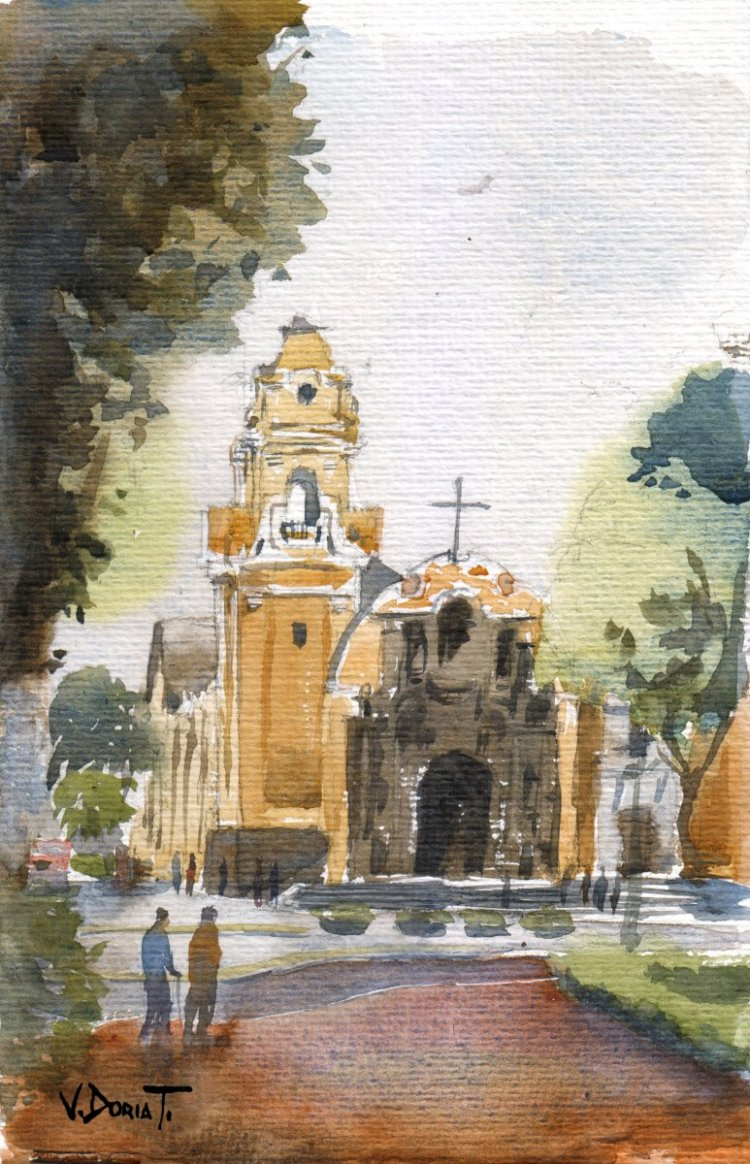another sketch from the traditional district of Barranco, Lima, Perú watercolor on paper 16x25cm Ba