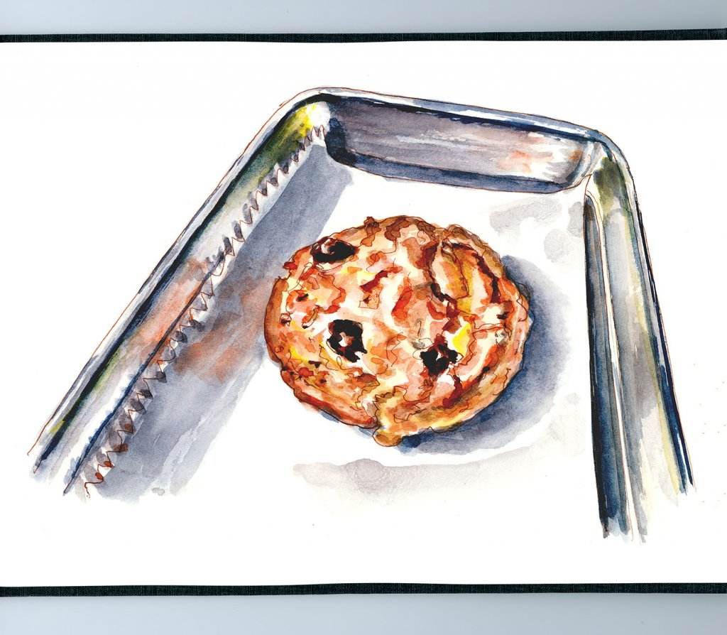Day 3 - One Precious Cookie Chocolate Chip Watercolor - Doodlewash