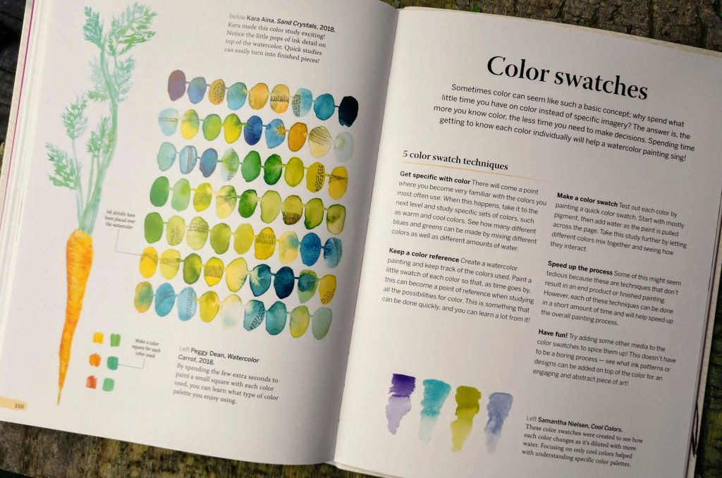 Color Swatches Page In 5 Minute Watercolor - Doodlewash
