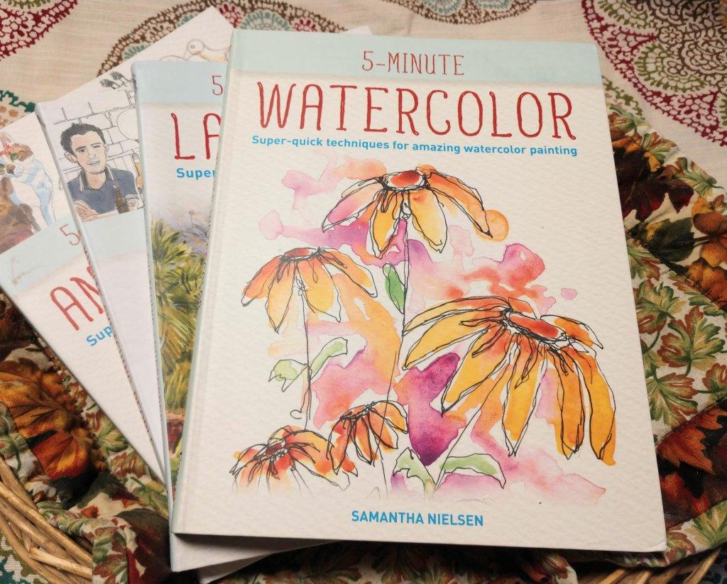 5 Minute Watercolor Sketching and 5-Minute Sketching Series books - Doodlewash