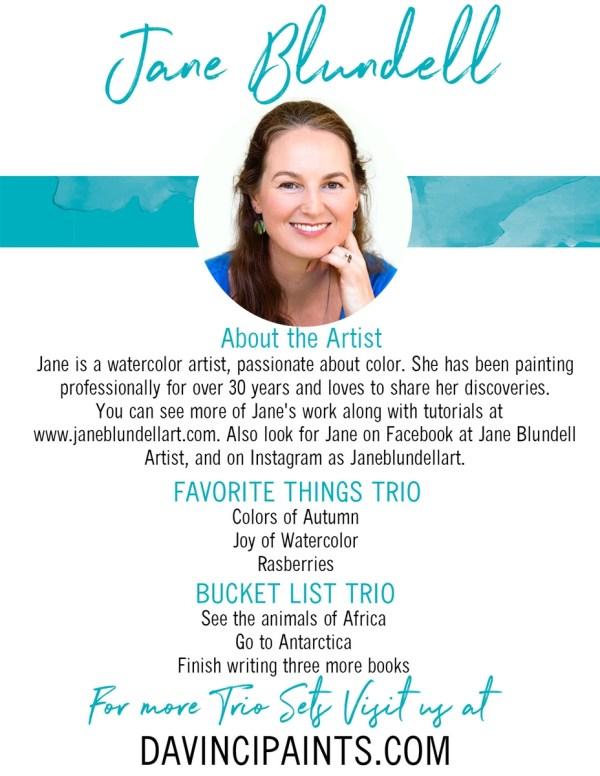 Jane Blundell Color Wheel Da Vinci Watercolor Trio