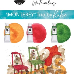 Katie Powell Monterey Da Vinci Watercolor Trio