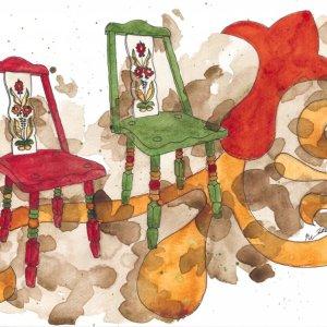 Katie Powell Monterey Da Vinci Watercolor Trio Example Painting