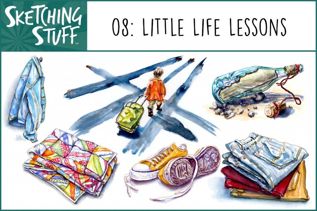 Sketching Stuff Podcast Episode 8 Artwork - Doodlewash©